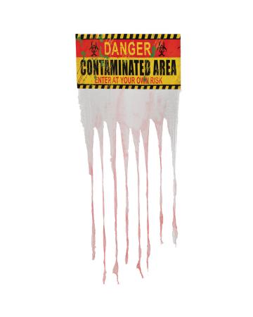 """Warnschild """"Contaminated Area"""" mit Vorhang"""