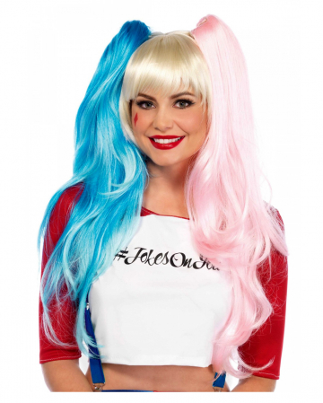 Cosplay Wig With Light Blue/pink Pigtails