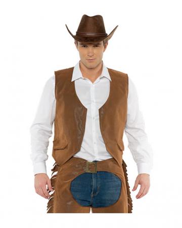 Braune Cowboy Kostümweste