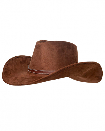 Cowboy Hat Brown In Suede Look