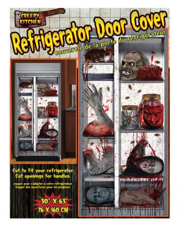 Spooky Halloween Kühlschrank Folie