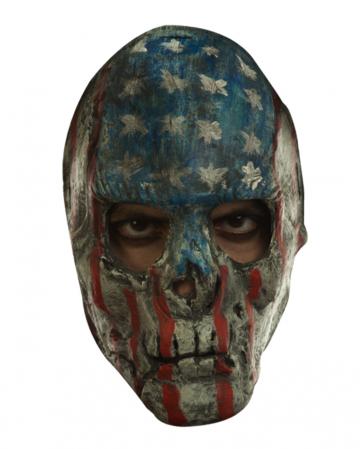 Gruseliger Patrioten Schädel als Maske