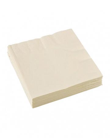 Cremefarbene Papierservietten 20 St.