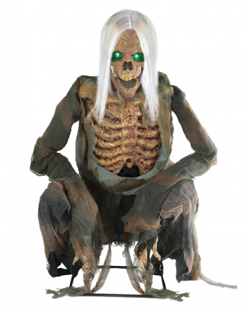 Bending Skeleton Reaper Animatronic With Sound