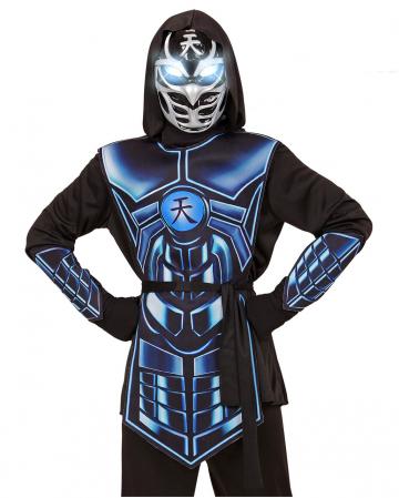 Cyber Ninja Child Costume With Glowing Eyes