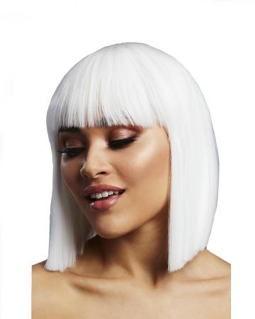 Lola Damen Perücke Weiß