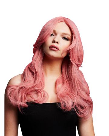 Nicole Damen Perücke rosa