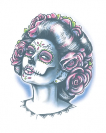 Day Of The Dead Glue Tattoo Senora Muerte