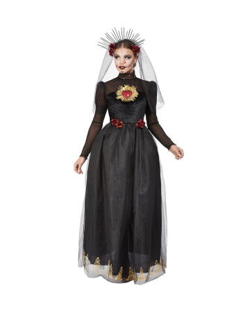 Day Of The Dead Sacred Heart Bride Ladies Costume