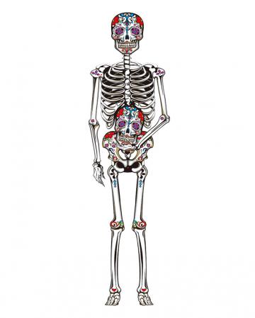 """""""Tag der Toten"""" Skelett Wand Deko 150 cm"""