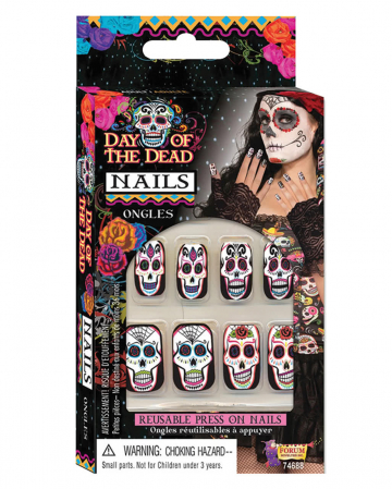 Day of the Dead fingernails