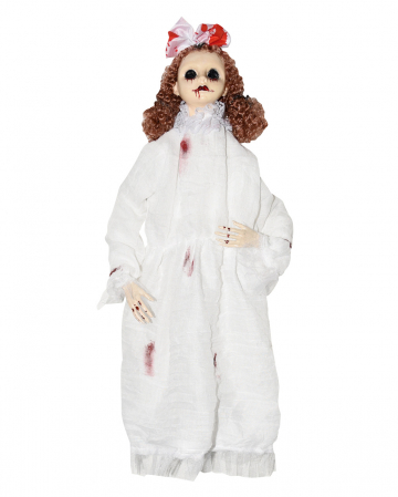 Dead Doll Hanging Figure With Blood Splashes
