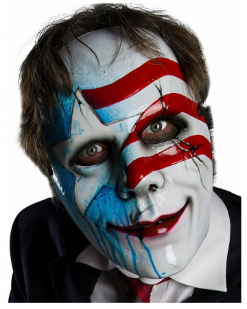 Dead White & Blue Horrormaske