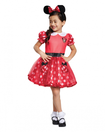 Minnie Mouse Children Costume Dress Red