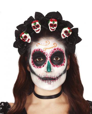 Dia De Los Muertos Skull Diadem