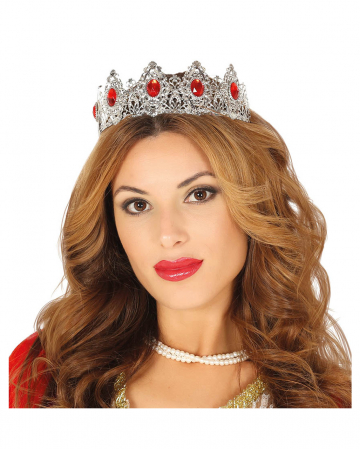 Diadem Silver-red With Gemstones