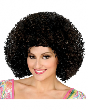 Disco Afro wig black / brown