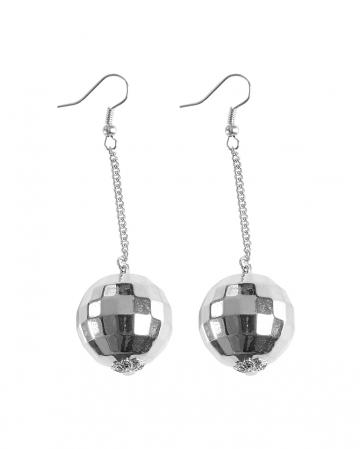 Disco Ball Earrings As Costume Accessory
