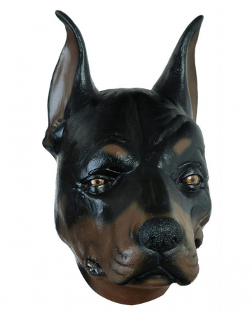 Dobermann Latex Mask