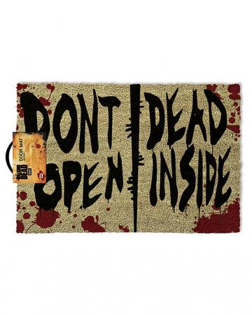 Don't Open Dead Inside the Walking Dead Fußmatte