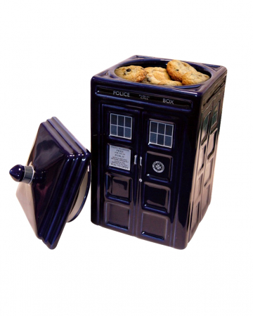 Dr. Who Tardis Ceramic Cookie Can