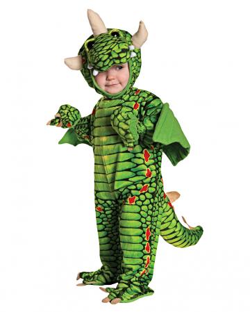 Grüner Drache Kleinkinderkostüm