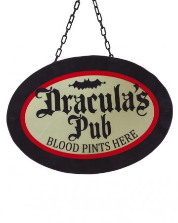 Draculas Pub Wanddeko mit LEDs 47cm