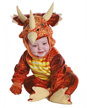 Triceratops Dino Kleinkinderkostüm Rot