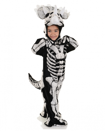 Three Horn Dino Skeleton Infant Costume