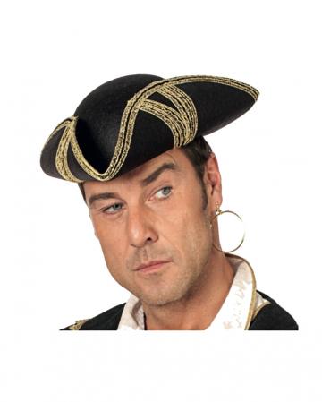 Piratenhut mit Goldborte