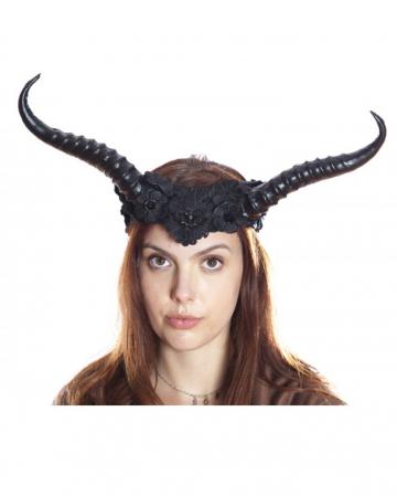 Böse Fee Hörner Haarreif mit Spitze
