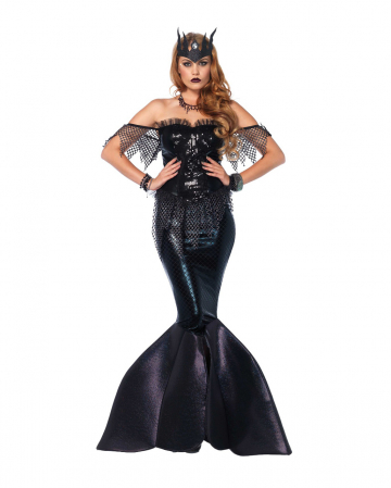 Dark Mermaids Queen Ladies Costume
