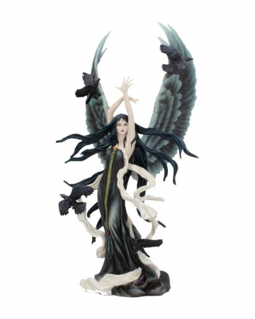 Dark Raven Fairy Figure