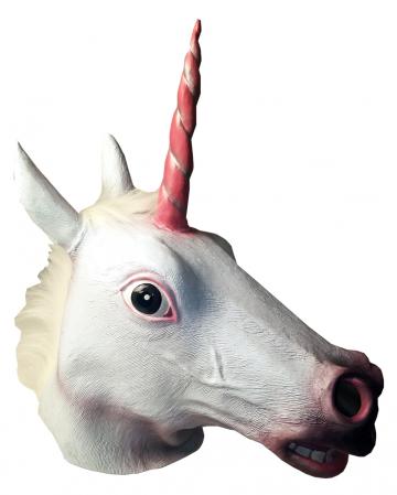 Unicorn Latex Mask With Mane