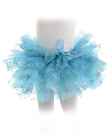 Schneeflocken Kostüm Tütü für Kinder blau