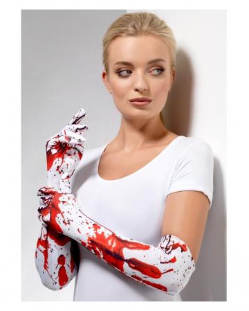 Blutspritzer Handschuhe Ellbogenlang