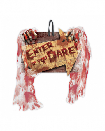 Enter If You Dare Halloween Decoration Shield