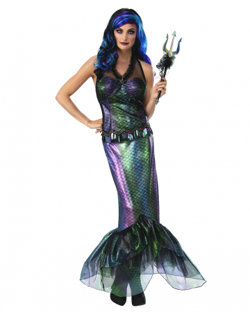 Dunkle Meerjungfrauen Königin Kostüm