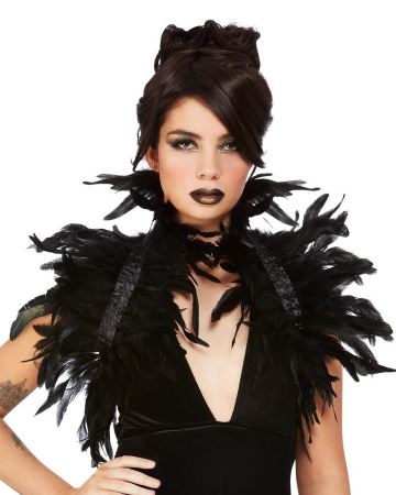Bolero With Black Feathers