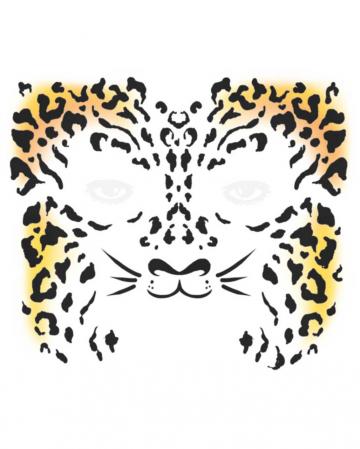 Gesichtstattoo Gepard