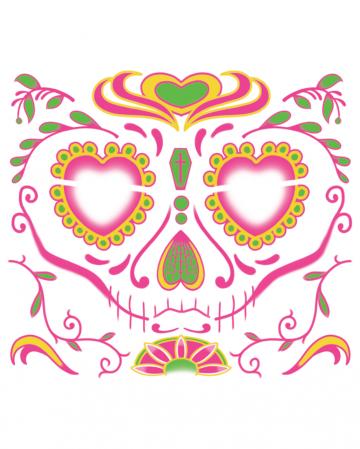 Gesichtstattoo Sugar Skull weiblich