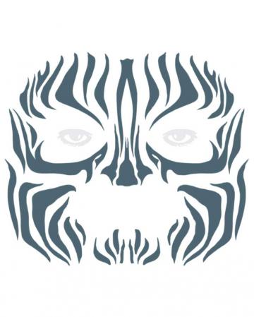 Gesichtstattoo Tribal Zebra
