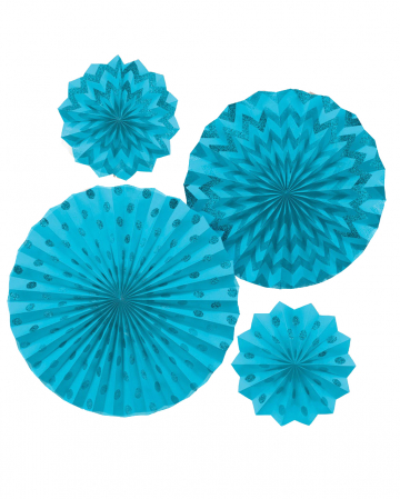 Fan Decoration Set Turquoise