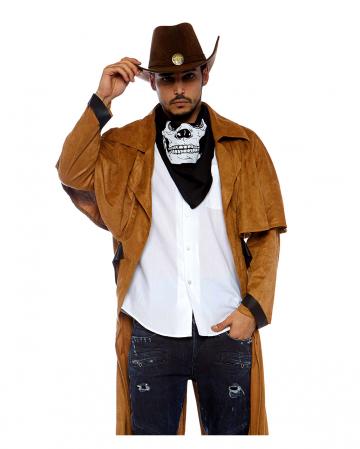 Fake Suede Western Coat For Men