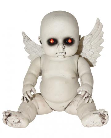 Halloween Engelspuppe mit LED Augen