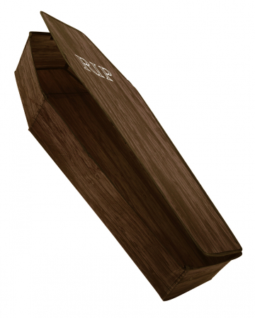 Foldable Coffin With Lid Brown 150cm