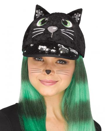Fancy Black Cat Cap