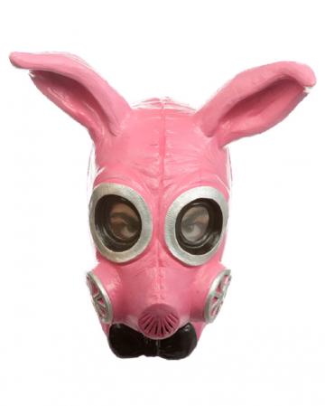 Pinke Fetisch Bunny Gas Maske