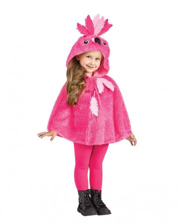 Flamingo Kostümponcho mit Kapuze