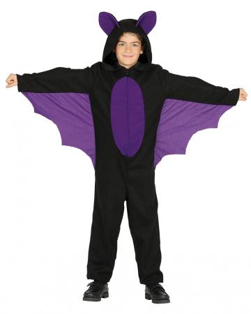Fledermaus Kinderkostüm mit Kapuze & Flügel